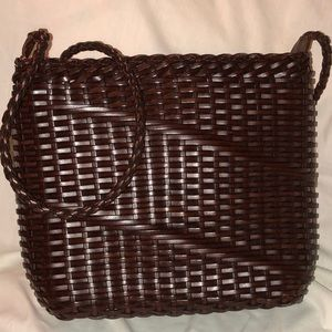 Handbags - WovenLeather Crossbody Excellent Condition